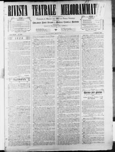 Rivista Teatrale Melodrammatica : giornale critico, musicale e d'annunzi fondato in Milano nel 1863 (1908:2172-2231)