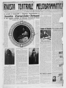 Rivista Teatrale Melodrammatica : giornale critico, musicale e d'annunzi fondato in Milano nel 1863 (1920:1-24)