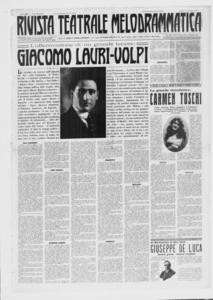Rivista Teatrale Melodrammatica : giornale critico, musicale e d'annunzi fondato in Milano nel 1863 (1921:2-38)