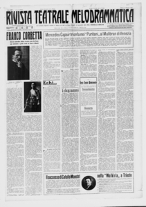 Rivista Teatrale Melodrammatica : giornale critico, musicale e d'annunzi fondato in Milano nel 1863 (1922:1-32)