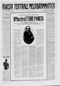 Rivista Teatrale Melodrammatica : giornale critico, musicale e d'annunzi fondato in Milano nel 1863 (1923:1-22)