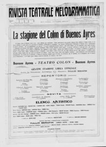 Rivista Teatrale Melodrammatica : giornale critico, musicale e d'annunzi fondato in Milano nel 1863 (1925:2-24)