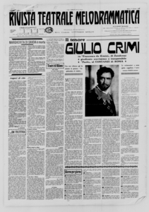Rivista Teatrale Melodrammatica : giornale critico, musicale e d'annunzi fondato in Milano nel 1863 (1926:1-19)