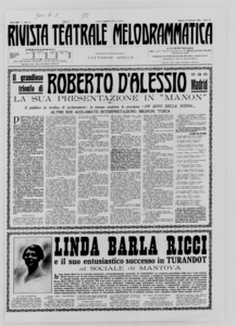 Rivista Teatrale Melodrammatica : giornale critico, musicale e d'annunzi fondato in Milano nel 1863 (1928:1-20)