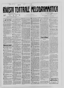 Rivista Teatrale Melodrammatica : giornale critico, musicale e d'annunzi fondato in Milano nel 1863 (1930:1-20)