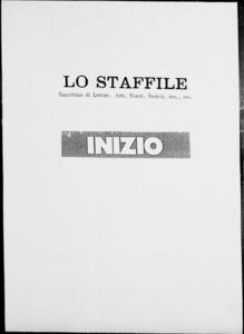 Lo Staffile : gazzettino di lettere, arte, teatri, societa' ecc. (1880:1-3)