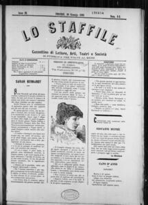 Lo Staffile : gazzettino di lettere, arte, teatri, societa' ecc. (1882:1-21)