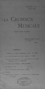 La cronaca musicale : piccola rivista di musica (1908:10)