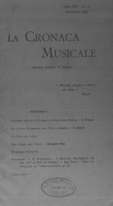 La cronaca musicale : piccola rivista di musica (1908:11)