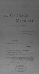 La cronaca musicale : piccola rivista di musica (1908:4)