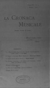 La cronaca musicale : piccola rivista di musica (1908:5)