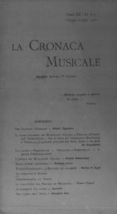 La cronaca musicale : piccola rivista di musica (1908:6-7)