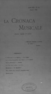 La cronaca musicale : piccola rivista di musica (1908:8)