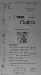La cronaca musicale : piccola rivista di musica (1909:3)