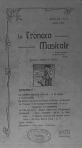 La cronaca musicale : piccola rivista di musica (1909:4)