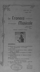 La cronaca musicale : piccola rivista di musica (1909:6)