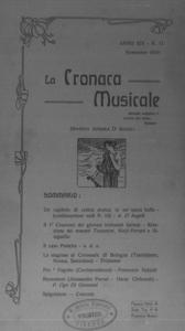 La cronaca musicale : piccola rivista di musica (1910:11)