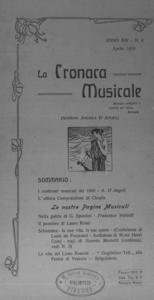 La cronaca musicale : piccola rivista di musica (1910:4)