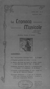 La cronaca musicale : piccola rivista di musica (1910:9)
