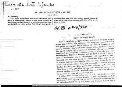 Inscripción hallada en Oppidum Ignotum