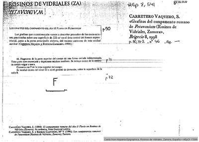 Inscripción hallada en Petavonium