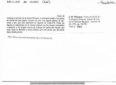 Inscripción hallada en Ignotum