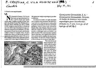 Inscripción hallada en Lusitania