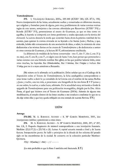Letras colgantes de las coronas votivas del tesoro visigodo de Torredonjimeno