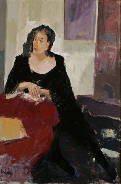 Een schilderij getiteld Vrouw', 2001.