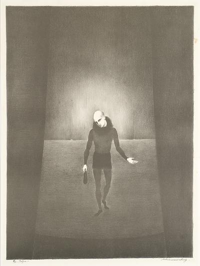 Een litho getiteld 'Paljas', 1968.
