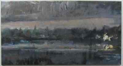 Een schilderij getiteld 'Bij Ankeveen', 2004.