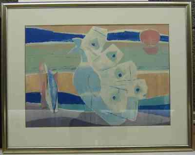Een gouache getiteld 'Duif', 1968.