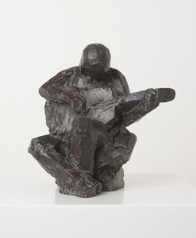 Een bronzen beeld uit 1979 getiteld: Gitaarspeler.