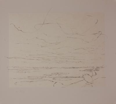 Een lithografie van Willem den Ouden bij een tekstfragment van Nescio (pseudoniem van J.H.F. Gronlőh) getiteld '5 mei'.
