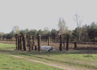 De Stichting Kunst in Putten (SKIP) organiseerde in 2011 een LAND ART project in het Puttense buitengebied. Dit beeld gaat over tijd. Op een gebeeldhouwde steun rust een tijdsbalk waarop jaartallen staan uit de Puttense geschiedenis, vanaf de grafheuveltijd tot heden. De eikenstammen zijn afkomstig uit de gemeentelijke bossen aan de zuidoost-kant van Putten.