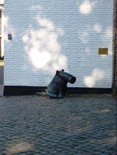 Dit bronzen kunstwerk werd in 2003 onthuld op de Stille Wei in Harderwijk vlakbij de stadsmuur, waar men uit kan kijken over het Wolderwijd. Het kunstwerk is op 24 september 2009 herplaatst naast de Vischpoort. De kunstenaar is vooral bekend geworden door zijn dierfiguren, onder andere in het beeldenpark van het Kröller-Müller Museum in Otterlo. In diverse plaatsen staat werk van Tom Claassen, onder andere in Utrecht, Nijmegen, IJburg en Almere.