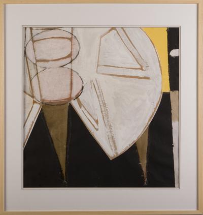 Schilderij. In lijst. 1988.