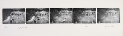 Serie van 5 foto's. Andros 27 januari 1977. Oplage 11/35. 1977.