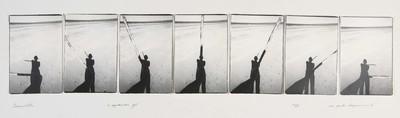 Serie van 6 foto's. Andros 14 januari 1977. Oplage 8/35. 1977.