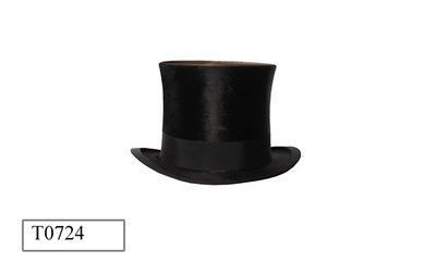 Hoge hoed in doos.