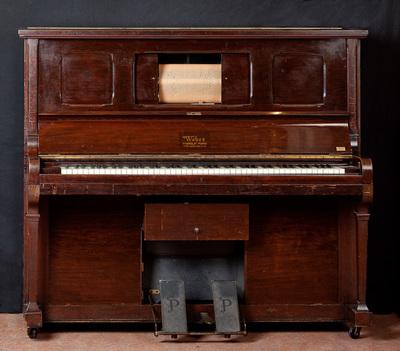 Weber Pianola met Aeolean speelwerk, Engels of Amerikaans. Datering 1910.