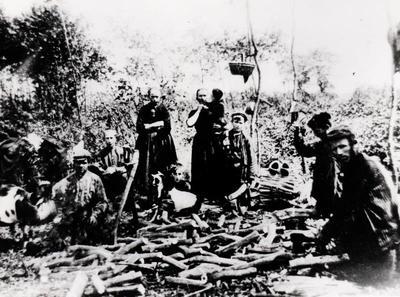 Veluwse eekschillers uit 't Harde in Gieten, circa 1908