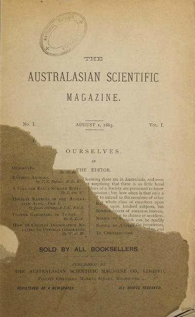 The Australasian scientific magazine /
