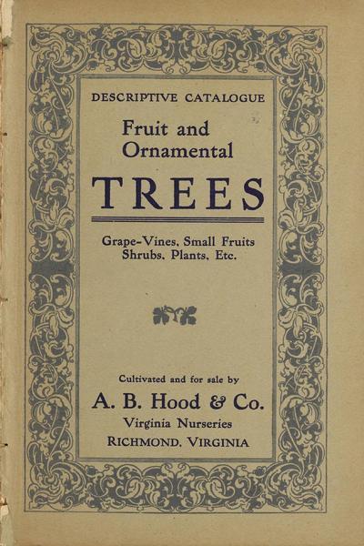 [A.B. Hood & Co. materials]