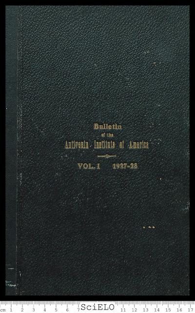 Bulletin of the Antiven Institute of America