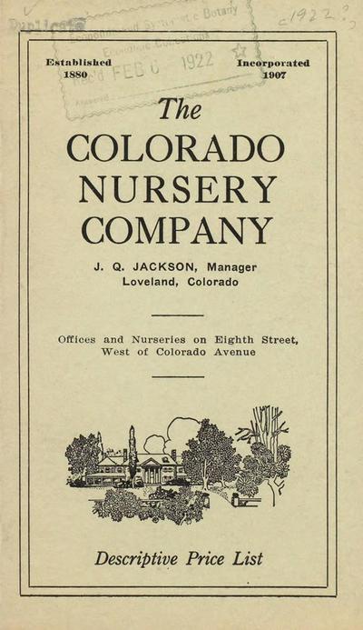 [Colorado Nursery Co. materials]