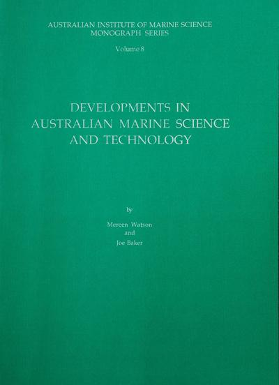 Developments in Australian marine science and technology