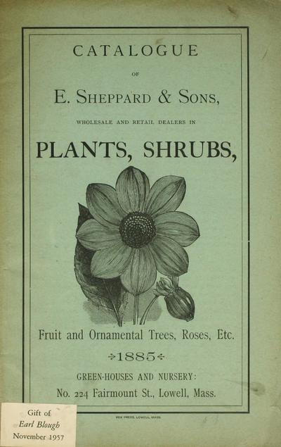 [E. Sheppard & Sons materials]