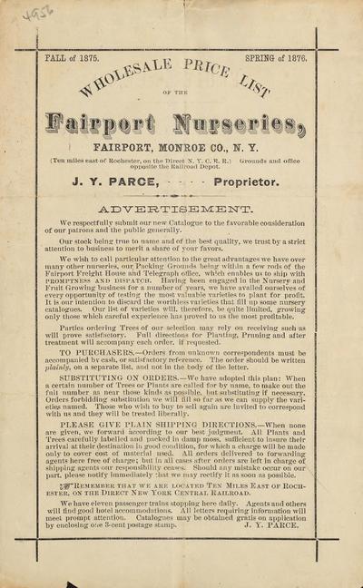 [Fairport Nurseries materials]
