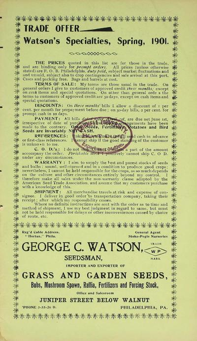 [G.C. Watson materials]
